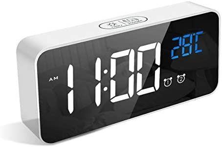 LATEC Relógio despertador digital, com mostrador LED, alarme inteligen