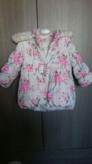 Cudna kurtka Next zimowa dla dziewczynki 12-18 mcs jak nowa