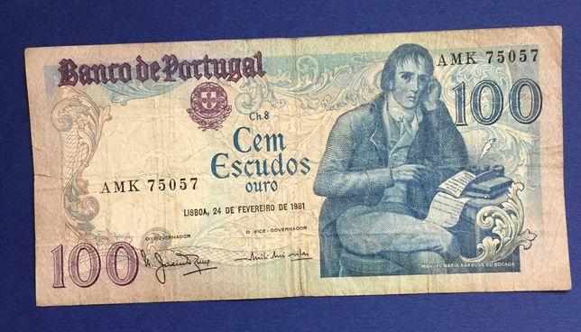CAPICUA - nota 100 escudos Bocage - 1981