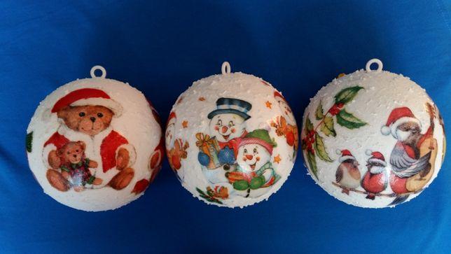 Bombka decoupage dekupaż bombki świąteczne ozdoby na choinkę