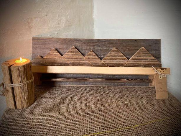 Drewniany wieszak Wieszak z drewna Wooden hanger 59,5x22 cm