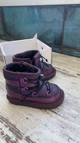 Зимние ботиночки для девочки 23 размер