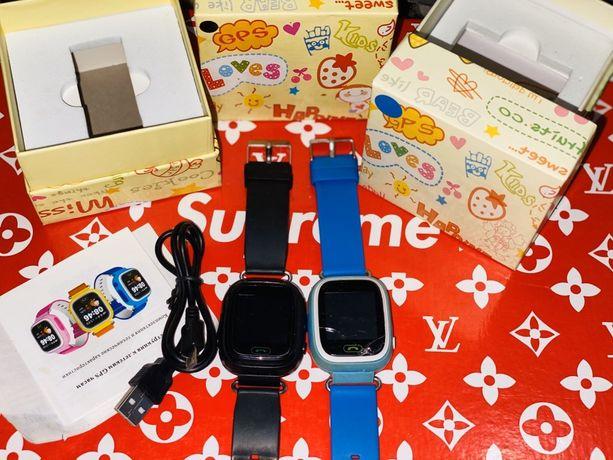 Часы smart baby watch Q90 чёрные и синие