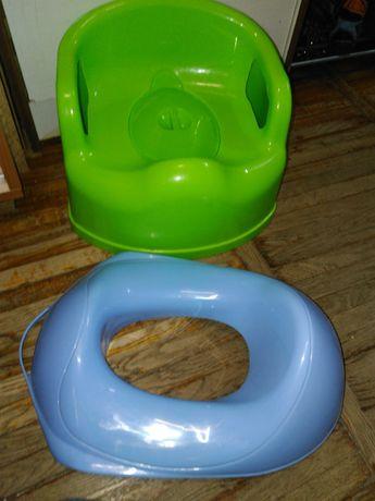 Детский горшок-кресло и накладка на унитаз