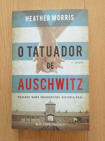 """Livro """"O Tatuador de Aushwitz"""" de Heather Morris, novo"""
