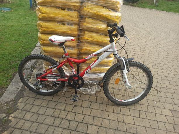 Rower 20 cali Accent Tommy - biało czerwony