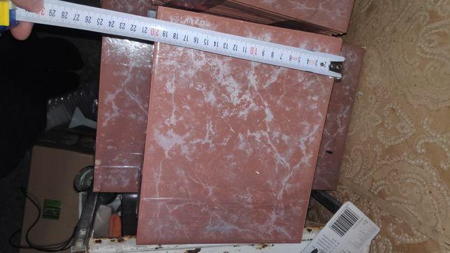 Плитка кафель 20*25 см красный бордовый настенный около 20 кв.м