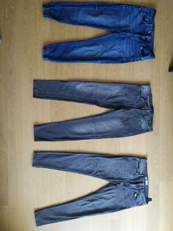 ZARA jeansy młodzieżowe 3 pary