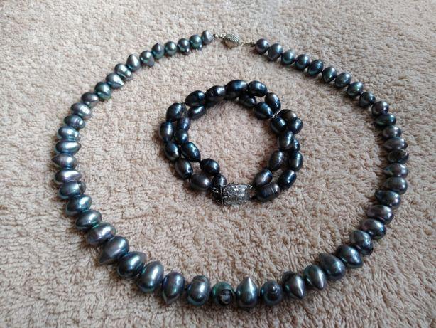 Naszyjnik+bransoleta z pereł