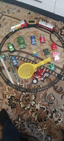 Игрушки , железная дорога , Робокар Полли .