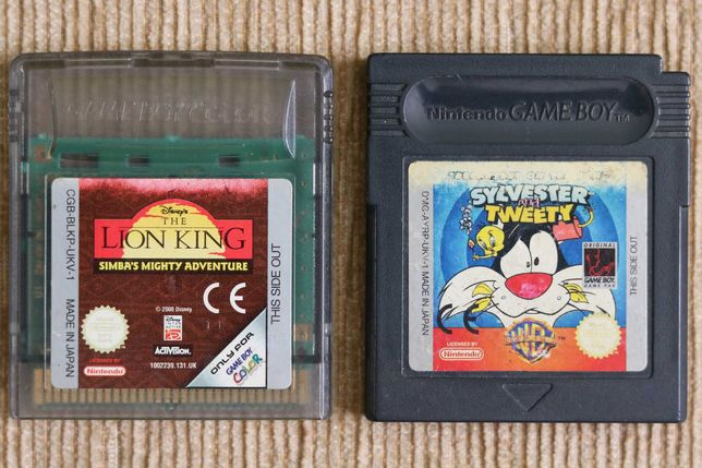 Jogos Gameboy Color - the lion king e silvester and tweety