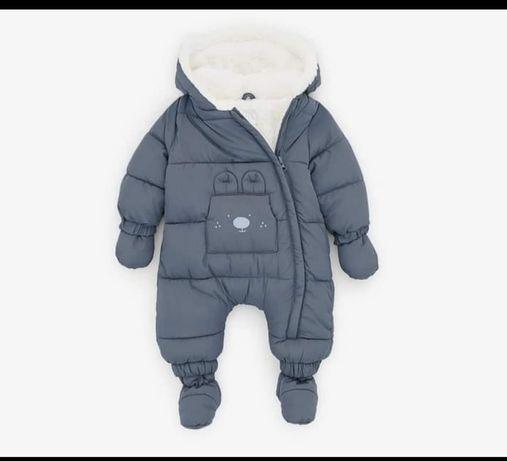Zimowy ciepły kombinezon zara niemowlę chłopiec dziewczynka 56 62