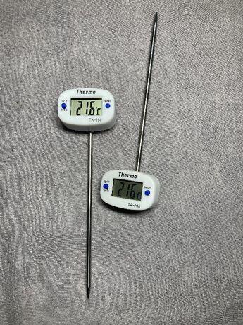 Поворотный цифровой электронный термометр-градусник со щупом