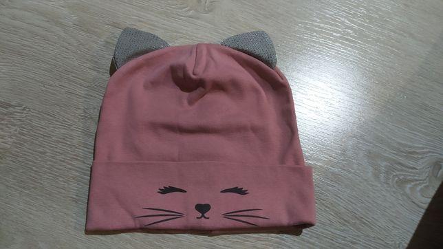 Весенняя шапочка кошка