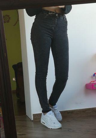Dżinsy spodnie slim 34 xs siwe szare