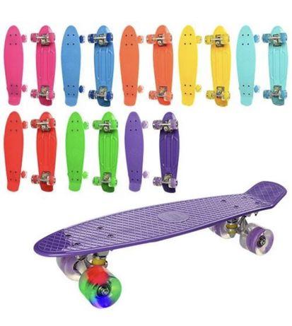 Пенни-борд-Детский скейт С LED подсветкой колес! PennyBoard-ХИТ СЕЗОНА