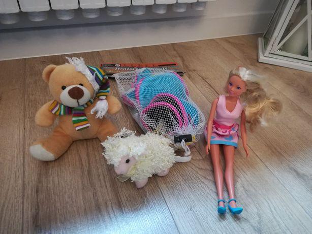 Ochraniacze Nils, rozmiar XS, lalka barbie, dwie maskotki