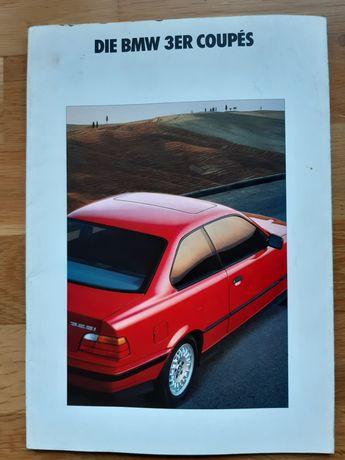 Katalog prospekt BMW serii 3 coupe E36 z 1991 roku