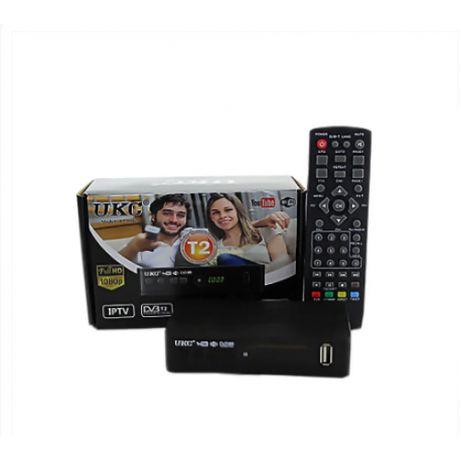 Цифровой эфирный тюнер UKC DVB-T2 0967 с поддержкой wi-fi адаптера