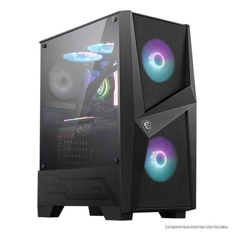 Caixa ATX MSI MAG Forge 100R Preta + RGB LED Strip MSI Phanteks