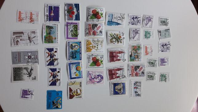 Komplet 40 znaczków pocztowych