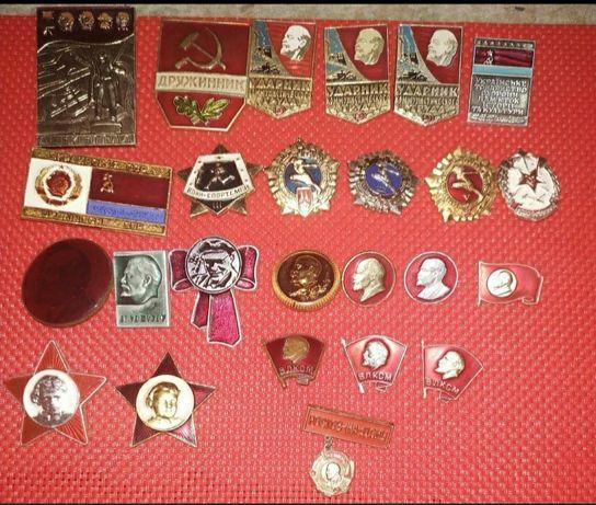 Значки СССР с изображением вождя.