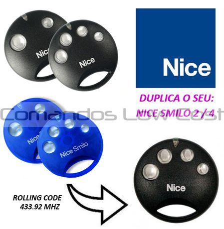 Comando Original NICE SMILO 2 e 4, NOVO