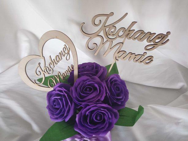 Dzień matki flower box prezent kwiaty mydlane