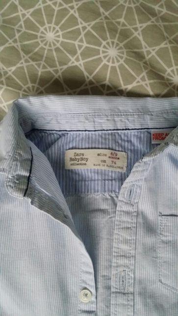 Komplet spodnie koszula zara hm 74 cm