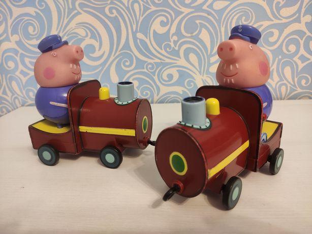 Свинка Пеппа Peppa Pig паровозик дедушки Пеппы !СУПЕР ЦЕНА!