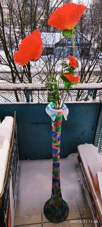 Wysoki wazon szkło kolorowe