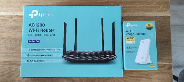 Zestaw TP-LINK router AC1200 MESH + repeater RE190 - GWARANCJA