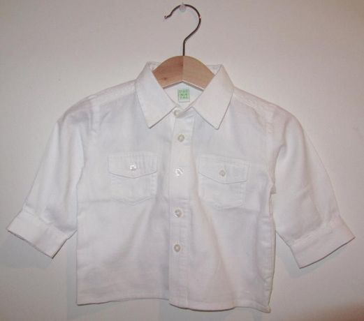 Camisa PRENATAL algodão branco 3/6meses