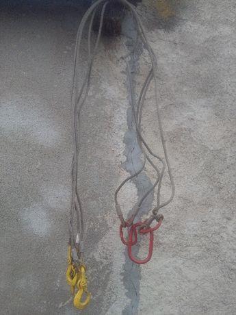 Zawiesie dźwigowe linowe do płyt kręgów itp. 4- cięgnowe