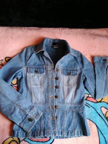 Джинсовый пиджак H&M куртка ветровка
