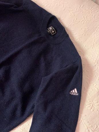 Sweter granatowy Adidas