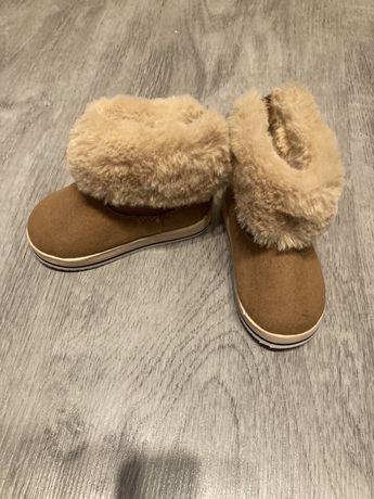 Buty zimowe skórzane rozmiar 18