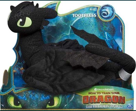 Великий Дракон Беззубик DreamWorks Dragons Toothless Deluxe Plush