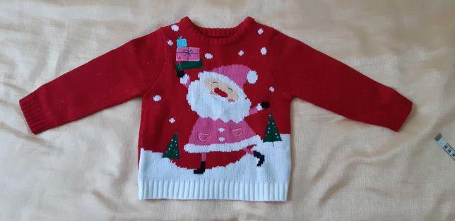 Новогодний свитер размер 1-1.2 года