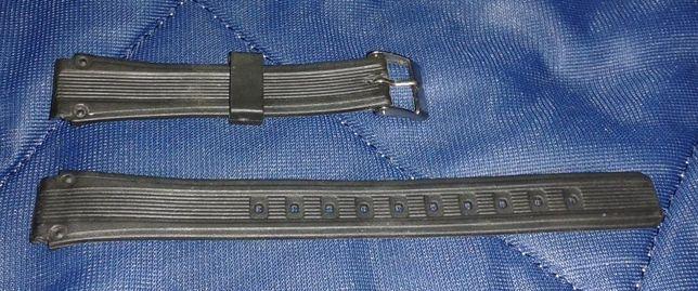 Pasek damski - plastikowy do zegarka - czarny - 10 mm