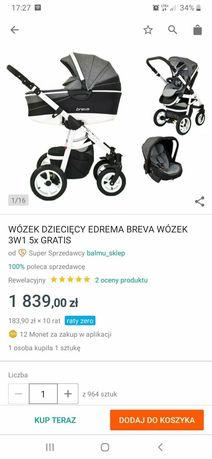 Wozek dzieciecy breva 3w1