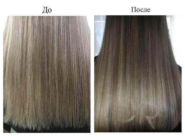 Полировка волос | стрижка концов | окрашивание в один тон