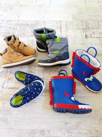 Buty dla chłopca cała torba