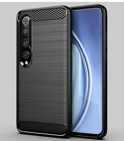 Xiaomi MI 10 - Capas Silicone design Carbono (novas)
