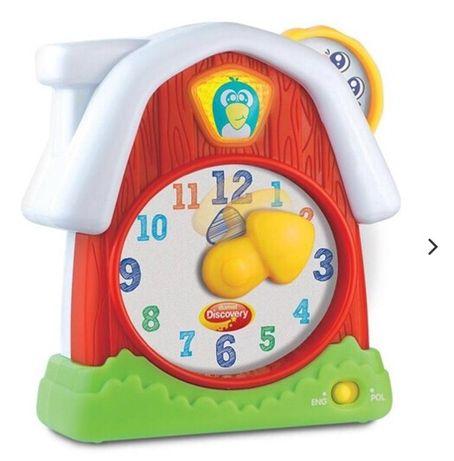 DUMEL mój pierwszy zegar,nauka godzin,zabawka interaktywna pol-ang