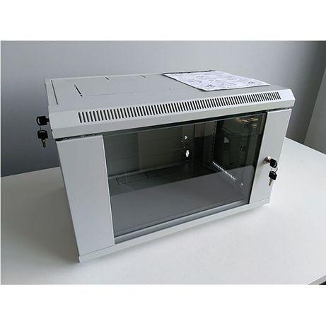 Szafa Rack 6U 390mm + Półka + Patch panel FV