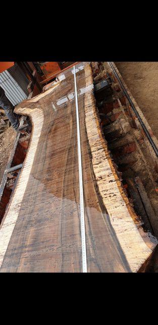 Orzech włoski blat drewniany monolit loft suche drewno biurko stół