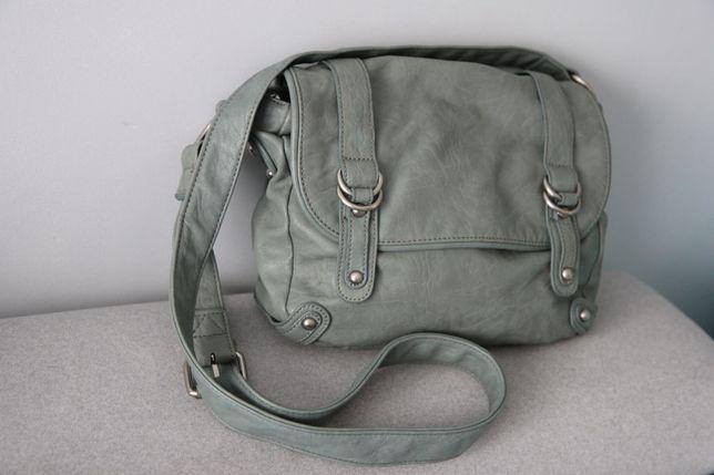 Niebieska torebka 21x27cm skóra ekologiczna