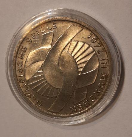 Moneta 10 marek Niemieckich- Igrzyska Olimpijskie-Monachium 1972-Węzeł