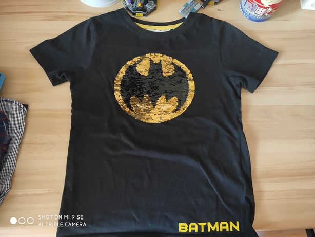 T-shirt Batman H&M odwracane cekiny rozm 134/140